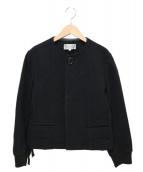 robe de chambre COMME des GARCONS(ローブドシャンブルコムデギャルソン)の古着「ノーカラーウールジャケット」|ブラック
