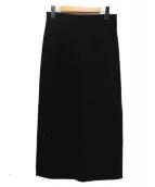 Yohji Yamamoto FEMME(ヨウジヤマモトファム)の古着「ウールロングスカート」|ブラック