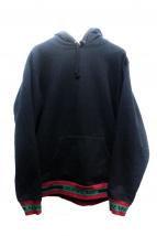 Supreme(シュプリーム)の古着「Striped Rib Hooded Sweatshirt」|ブラック