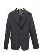 COMME des GARCONS HOMME PLUS(コムデギャルソンオムプリュス)の古着「ウール縮絨ジャケット」|ブラック