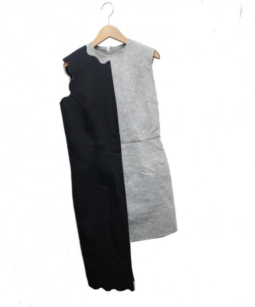 COMME des GARCONS(コムデギャルソン)COMME des GARCONS (コムデギャルソン) アシンメトリーワンピース ネイビー×グレー サイズ:M GO-10013M AD1998の古着・服飾アイテム