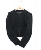 JUNYA WATANABE COMME des GARCONS(ジュンヤワタナベ コムデギャルソン)の古着「ノーカラージャケット」|ブラック