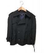 tricot COMME des GARCONS(トリコ コム デ ギャルソン)の古着「ショートトレンチコート」|ブラック