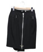 JUNYA WATANABE COMME des GARCONS(ジュンヤワタナベ コムデギャルソン)の古着「ジップウールスカート」 ブラック