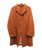 COMME des GARCONS(コムデギャルソン)の古着「ポリ縮絨3Bコート」 ブラウン