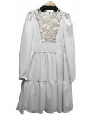 SEE BY CHLOE(シーバイクロエ)の古着「レースパネルドレス」|ホワイト