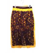 MSGM(エムエスジーエム)の古着「レーススカート」