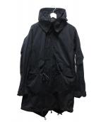 Yohji Yamamoto pour homme(ヨウジヤマモトプールオム)の古着「製品染めモッズコート」|ブラック