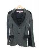JUNYA WATANABE COMME des GARCONS MAN(ジュンヤワタナベ コムデギャルソン マン)の古着「デザインジャケット」|グレー