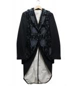 COMMEdesGARCONSHommePlus(コムデギャルソンオムプリュス)の古着「デザインジャケット」|ブラック