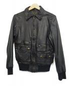 SISII(シシ)の古着「シングルライダースレザージャケット」|ブラック