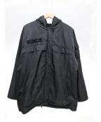 FENDI JEANS(フェンディ ジーンズ)の古着「裏フリースナイロンジャケット」|ブラック