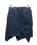 ISSEI MIYAKE(イッセイミヤケ)の古着「デニムラップスカート」