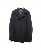 COMME des GARCONS HOMME PLUS(コムデギャルソンオムプリュス)の古着「ウールPコート」|ブラック