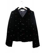 robe de chambre COMME des GARCONS(ローブドシャンブル コムデギャルソン)の古着「刺繍ジャケット」|ブラック