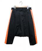 BLACK COMME des GARCONS(ブラックコムデギャルソン)の古着「ラインサルエルパンツ」|ブラック