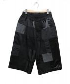 BLACK COMME des GARCONS(ブラックコムデギャルソン)の古着「パッチワークハーフパンツ」