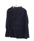 45R(45アール)の古着「ダブルテーラードジャケット」|ネイビー