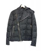 AKM(エイケイエム)の古着「ライダースダウンジャケット」|ブラック