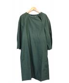 SOFIE DHOORE(ソフィードール)の古着「ロングブラウスワンピース」|グリーン