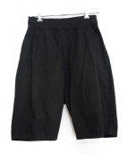 SILENT(サイレント)の古着「サルエルハーフパンツ」|ブラック