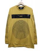 HOOD BY AIR(フッドバイエアー)の古着「ロゴプリントオーバーカットソー」|イエロー