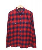 GIVENCHY(ジバンシー)の古着「チェックシャツ」|レッド