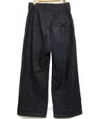 ETHOSENS(エトセンス)の古着「ワイドデニムパンツ」|インディゴ