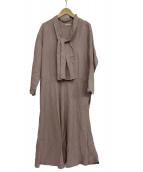 fog linen work(フォグリネンワーク)の古着「スキッパーワンピース」|ピンク