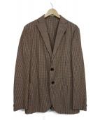 BOGLIOLI(ボリオリ)の古着「チェックテーラードジャケット」|レッド