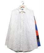 ALMOSTBLACK(オールモストブラック)の古着「パッチワークスリーブシャツ」