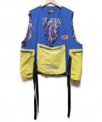 MINDSEEKER(マインドシーカー)の古着「ナイロンフィッシャーマンベスト」|イエロー×ブルー