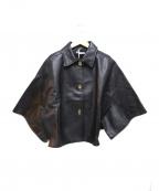 MIUMIU(ミュウミュウ)の古着「オールドレザーポンチョ」|ブラック