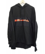 DAIRIKU(ダイリク)の古着「Millennialsラグビーフーディプルオーバーパーカー」 ブラック
