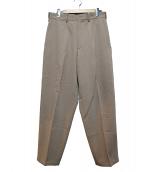 Y's for men(ワイズフォーメン)の古着「ウールワイドパンツ」 ベージュ