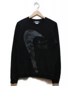 BLACK COMME des GARCONS(ブラックコムデギャルソン)の古着「カモスウォシュスウェットシャツ」|グレー