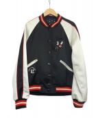 COACH × disney(コーチ × ディズニー)の古着「リバーシブルスタジャン」 ブラック