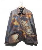 RIPNDIP(リップンディップ)の古着「プリントジップアップジャケット」 グレー