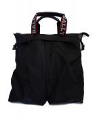 BALLY(バリー)の古着「ヘルメットナイロントートバッグ」|ブラック