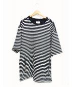TAKAHIROMIYASHITA TheSoloIst.(タカヒロミヤシタザソロイスト)の古着「オーバーサイズキルティングシャツ」|ホワイト×ブラック
