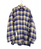 SYU.(シュウ)の古着「スーパーアームシャツ」|パープル