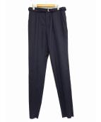 JOHN LAWRENCE SULLIVAN(ジョンローレンスサリバン)の古着「ベルト付スラックス」|ネイビー