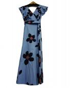 Kate Spade(ケイトスペード)の古着「グランドフローラポプリンミニドレス」|ブルー