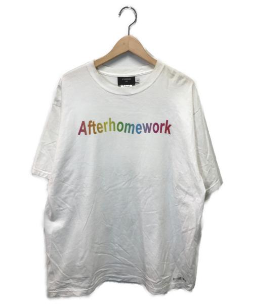 AFTERHOMEWORK(アフターホームワーク)AFTERHOMEWORK (アフターホームワーク) プリントTシャツ ホワイト サイズ:Lの古着・服飾アイテム