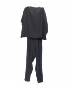 MUSE de Deuxieme Classe(ミューズデドゥーズィエム クラス)の古着「ドルマンパンツドレス(オールインワン)」|ブラック