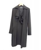 YUKIKO HANAI(ユキコ・ハナイ)の古着「シルクウールコート」|ブラック