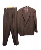 Y's for men(ワイズフォーメン)の古着「ダブルジャケットセットアップ」|ブラウン