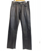DOLCE & GABBANA(ドルチェ&ガッバーナ)の古着「レザーパンツ」|ブラック
