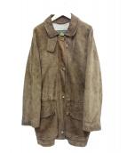 LORO PIANA(ロロピアーナ)の古着「スウェードレザーコート」|ブラウン