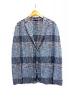 Altea(アルテア)の古着「コットンテーラードジャケット」|スカイブルー